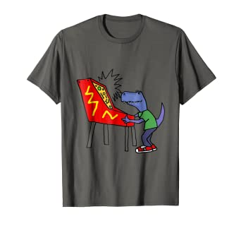 8a5019a9 Image Unavailable. Image not available for. Color: SmileteesSports Funny T- rex Playing Pinball T-shirt