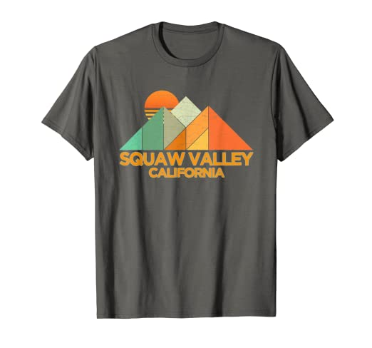 f05284160 Amazon.com: Retro Vintage Squaw Valley T-Shirt-Distressed Shirt: Clothing