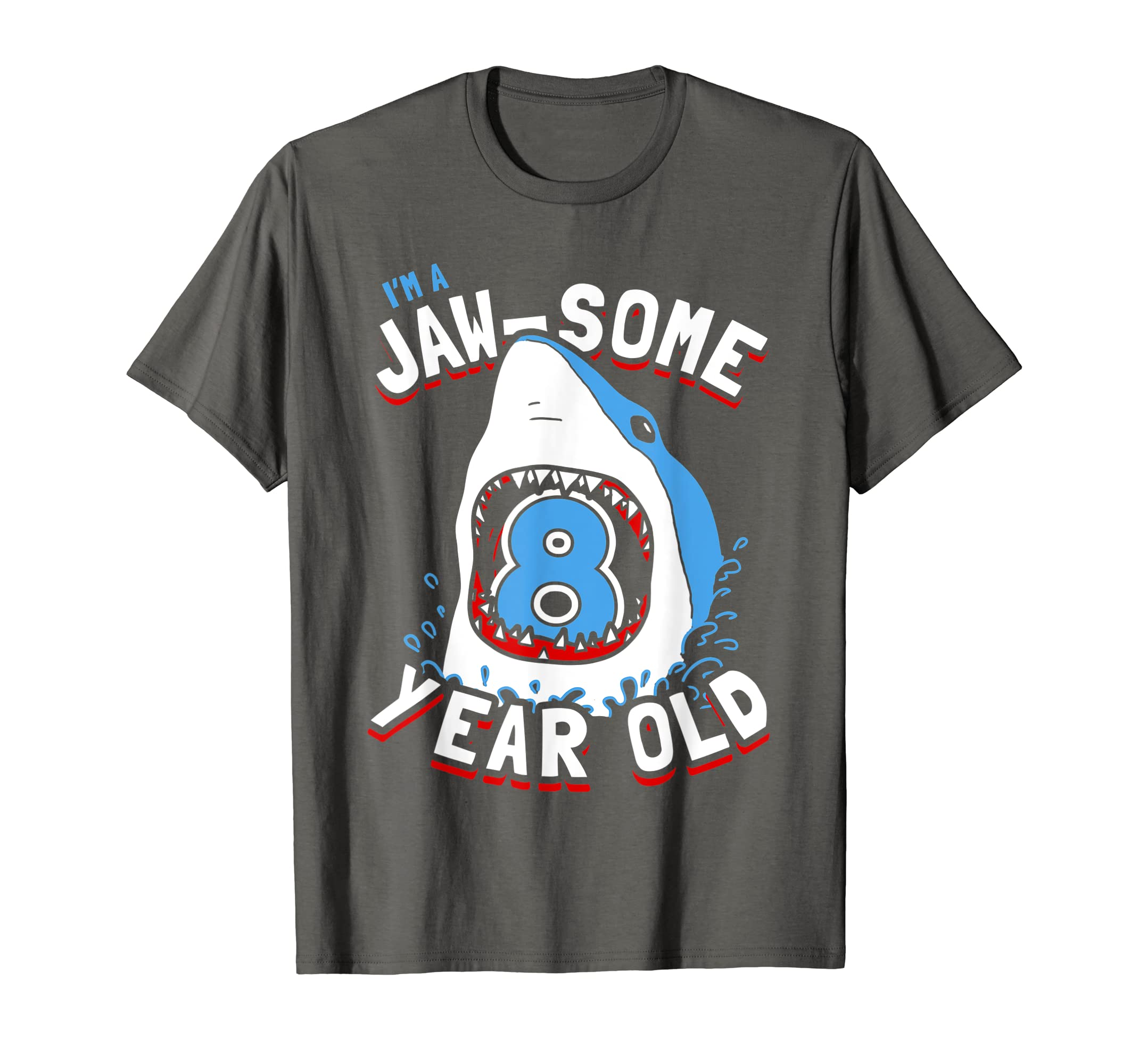 Amazon 8th Birthday Boys Shark T Shirt