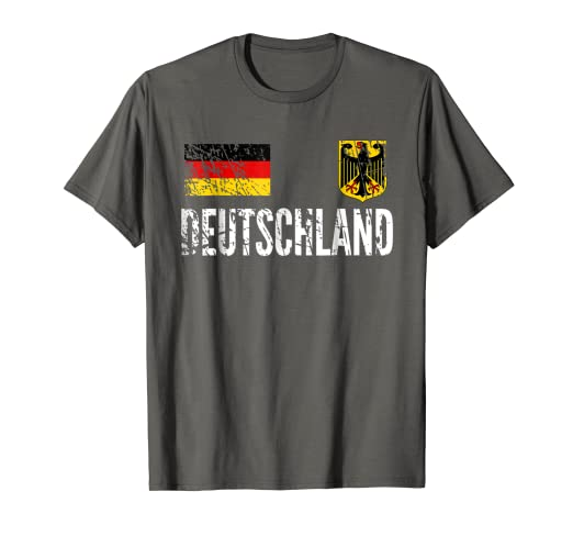 Image Unavailable. Image not available for. Color  Germany Football Jersey  - Disstressed Fussball Fan T-Shirt 185919f0f