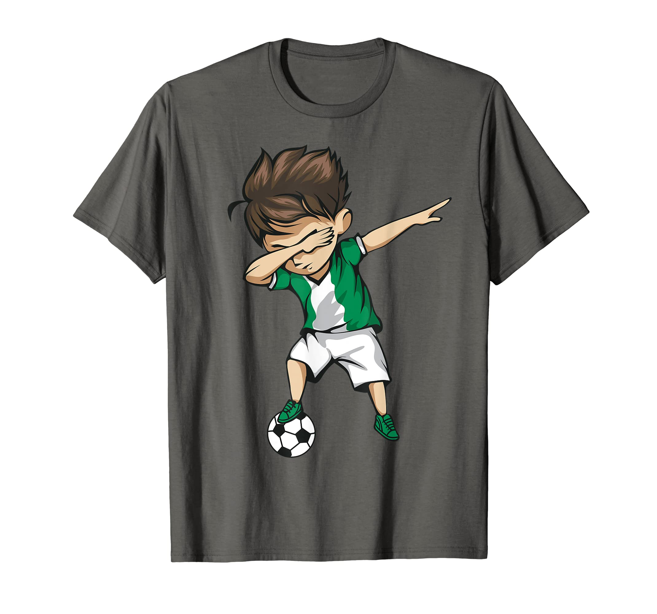 7d87fe5b8 Amazon.com  Dabbing Soccer Boy Nigeria Jersey Shirt - Nigerian Football   Clothing