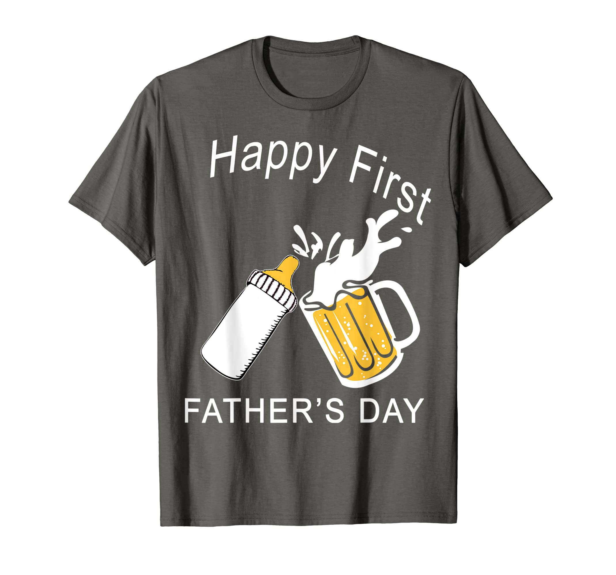 15ccf346 Amazon.com: HAPPY FIRST FATHER'S DAY Shirt Father's Day Gift T Shirt:  Clothing