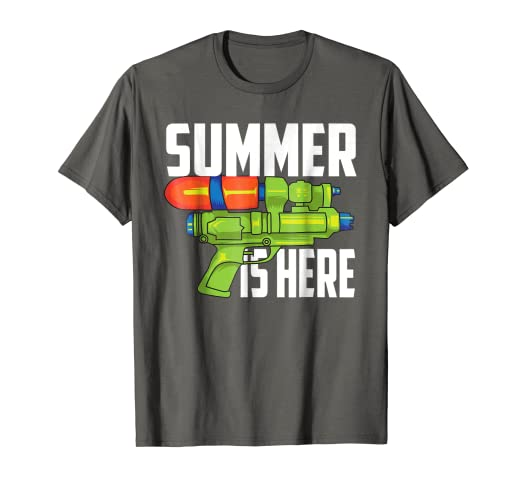 Amazon.com: Summer Is Here Shirt | Cute Fun Squirting Guns T ...