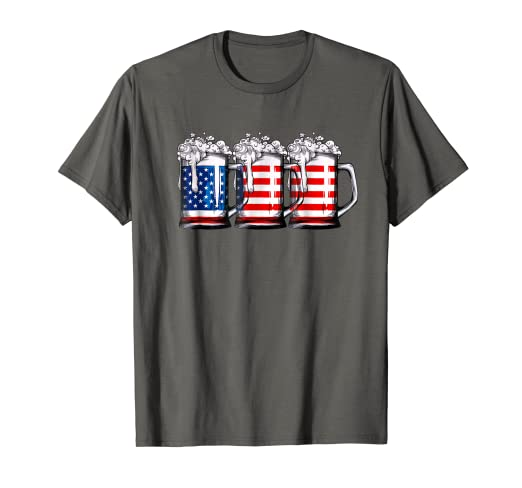 344230096da Image Unavailable. Image not available for. Color  4th of July Shirts for  Men Beer American Flag ...