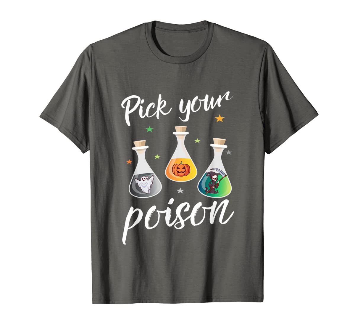 Pick your poison potion gift for a halloween party T-Shirt-Men's T-Shirt-Dark Heather