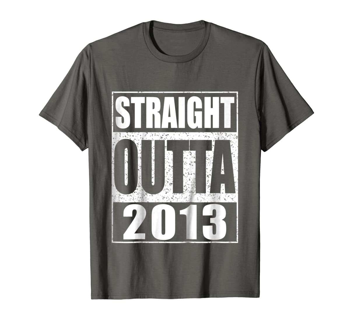 Kids Straight Outta 2013 T-Shirt 6th Birthday Gift Shirt-Men's T-Shirt-Dark Heather