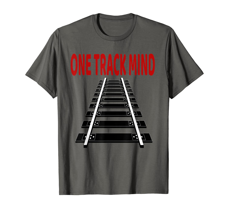 Train T-Shirt Railroad Train Track Tee