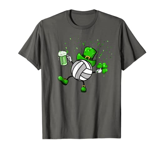 52c9cd58 Image Unavailable. Image not available for. Color: Cool Saint Patrick's Volleyball  Shamrock Shirt ...