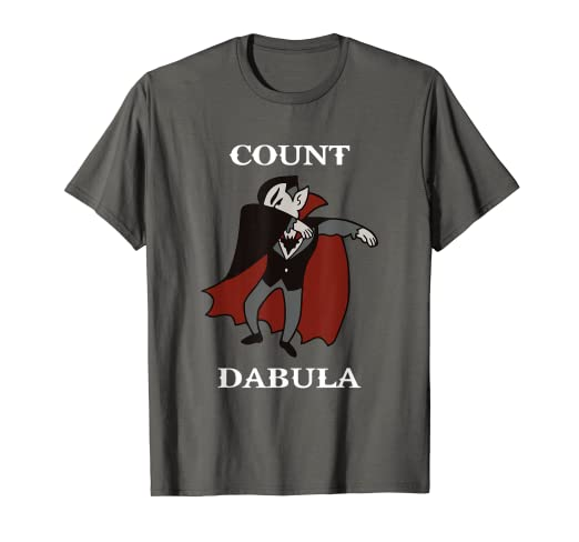 04eb50bc Image Unavailable. Image not available for. Color: Count Dabula, Dracula  Halloween Dabbing Funny T-Shirt