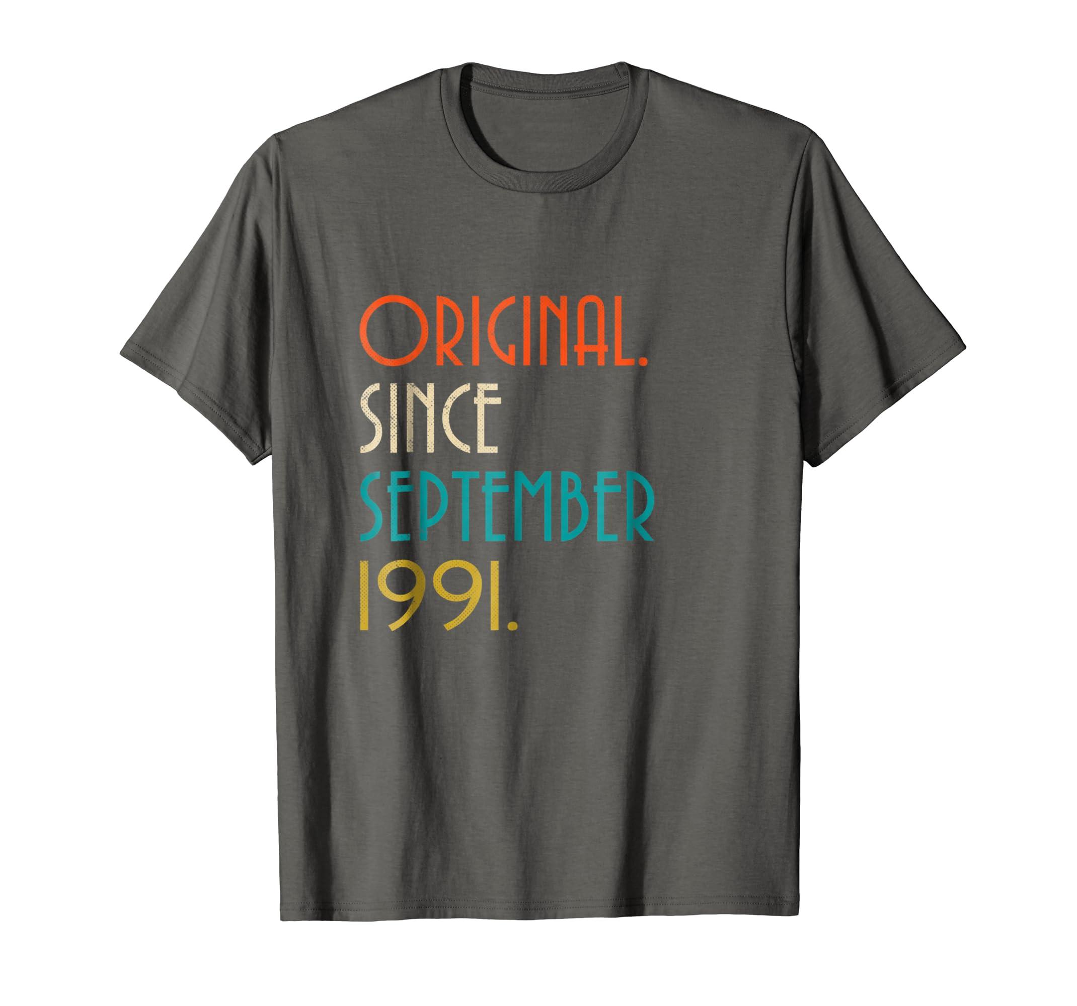 27th Birthday Vintage Original since September 1991 T-Shirt-Rose