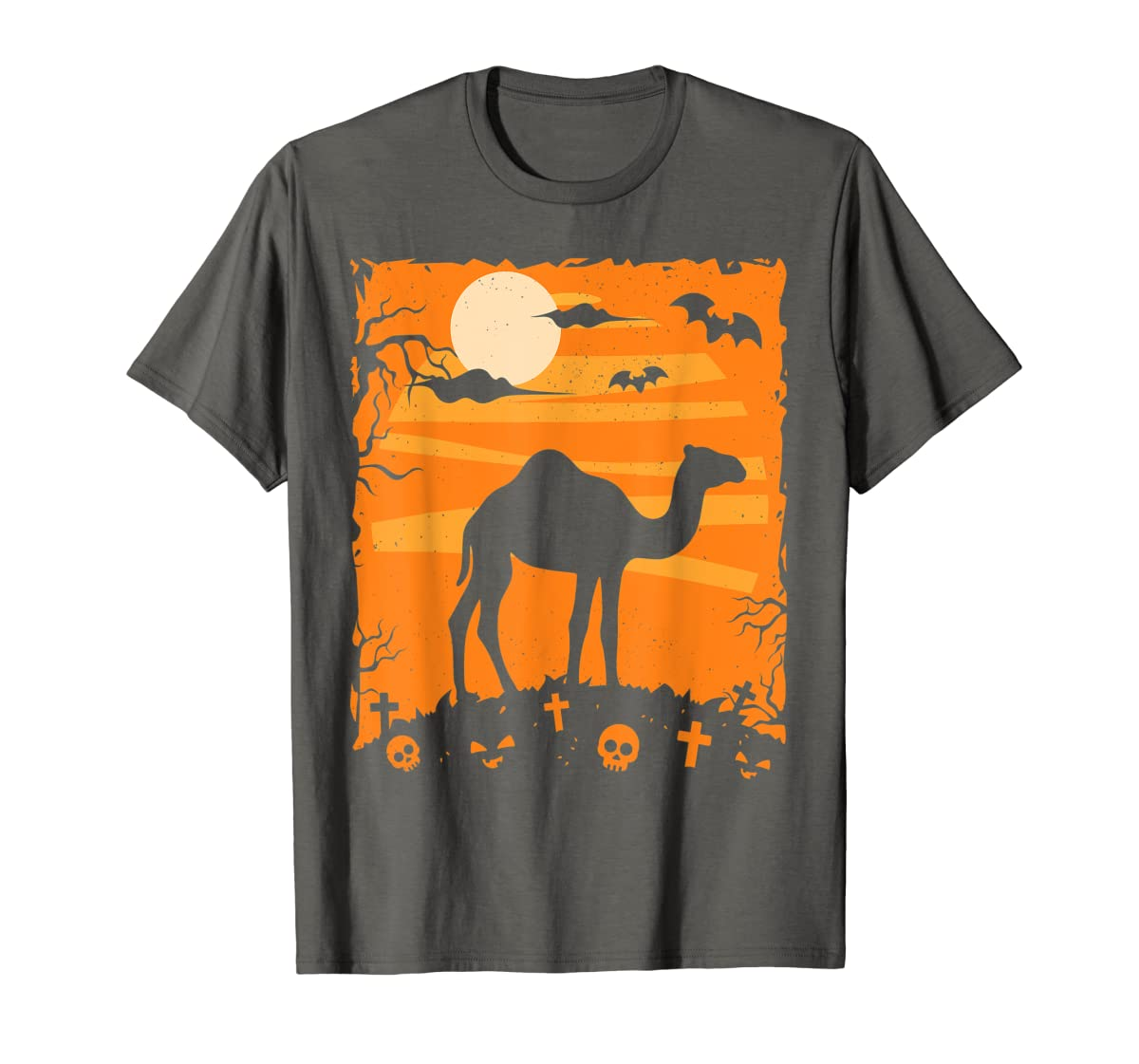 Camel Halloween Costume Animal Funny Pumpkin Outfit Gift T-Shirt-Men's T-Shirt-Dark Heather