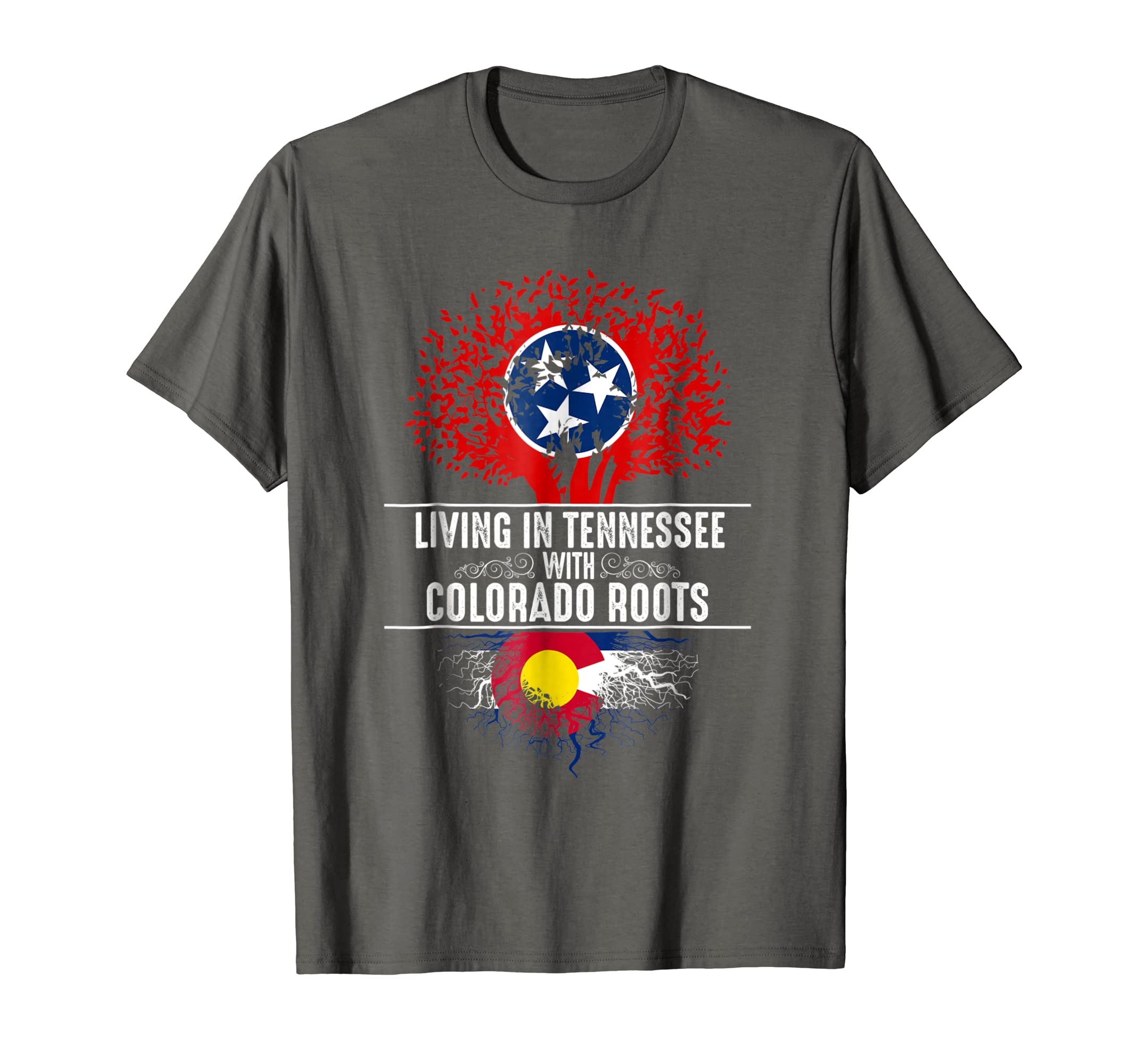 Tennessee Home Colorado Roots State Tree Flag Shirt Gift-SFL