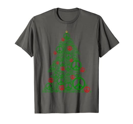 Amazon.com  PEACE SIGN Christmas Tree T-Shirt  8fbcd8987e6