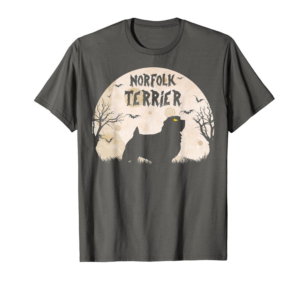 Halloween Horror Norfolk Terrier T-Shirt-Men's T-Shirt-Dark Heather