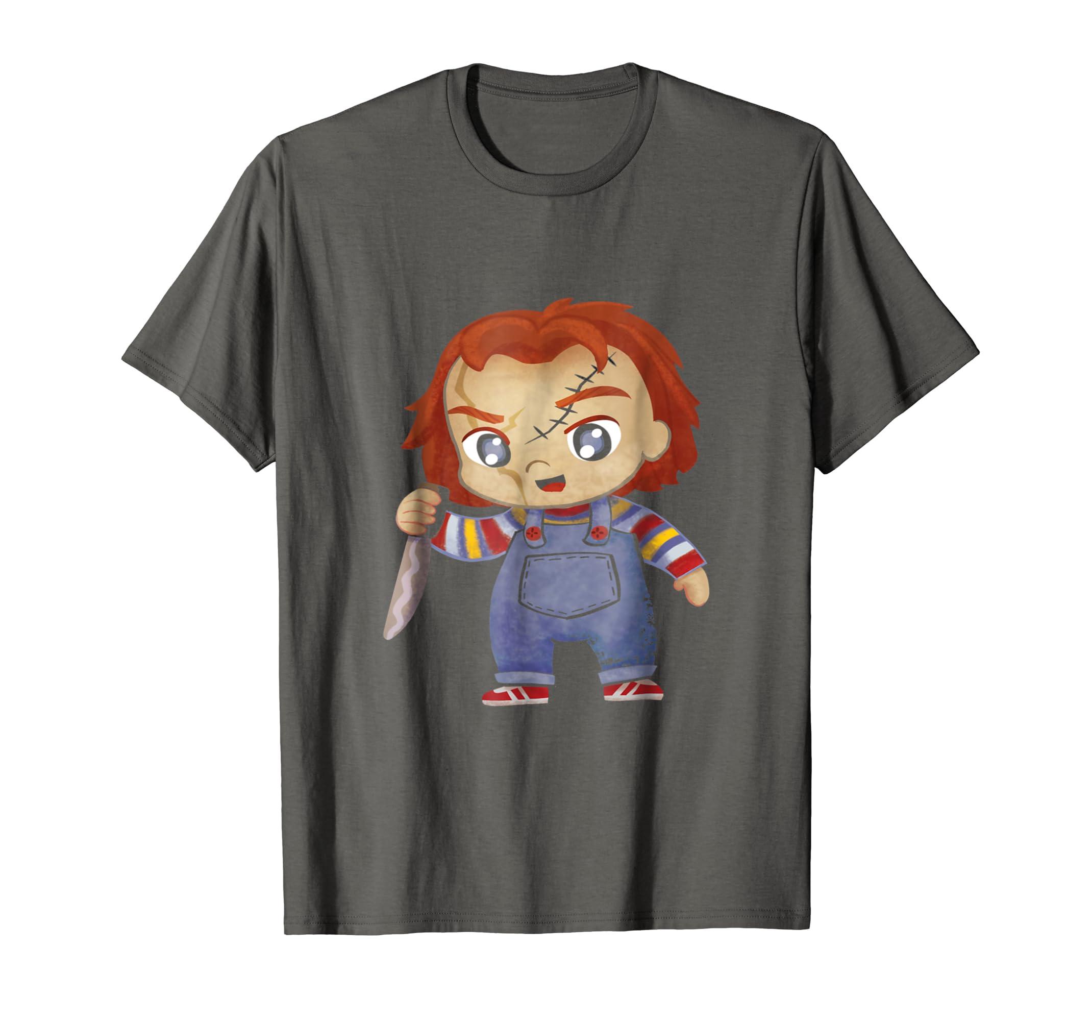 d2c44ff1 Amazon.com: HC Chucky Childs Play Halloween costume t shirt: Clothing