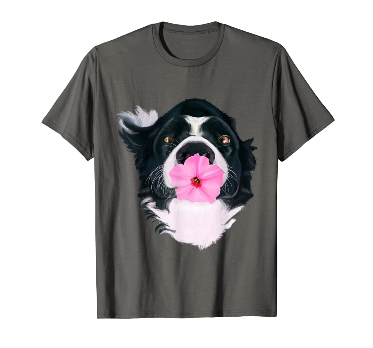 Border Collie Sweet Dog T-Shirt Dogs Tee Shirt Gifts-Men's T-Shirt-Dark Heather
