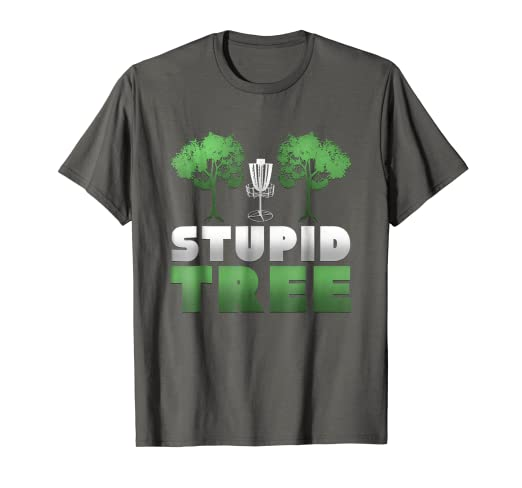 7b834351 Image Unavailable. Image not available for. Color: Stupid Tree Funny Disc  Golf T-Shirt
