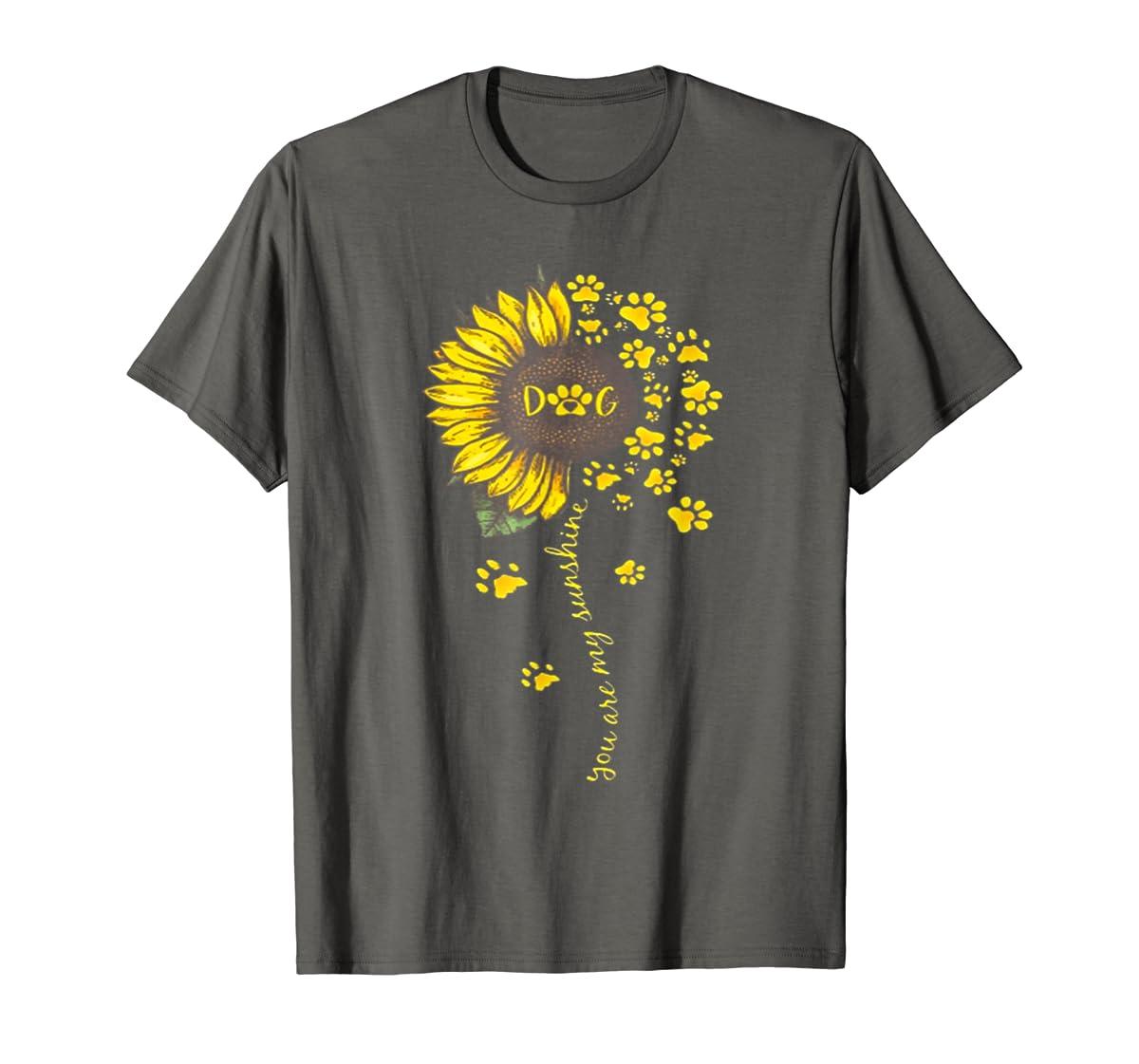 You Are My Sunshine Dog Tshirt-Men's T-Shirt-Dark Heather