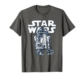 12319c410 Amazon.com: Star Wars R2-D2 Vintage Style Graphic T-Shirt C1: Clothing