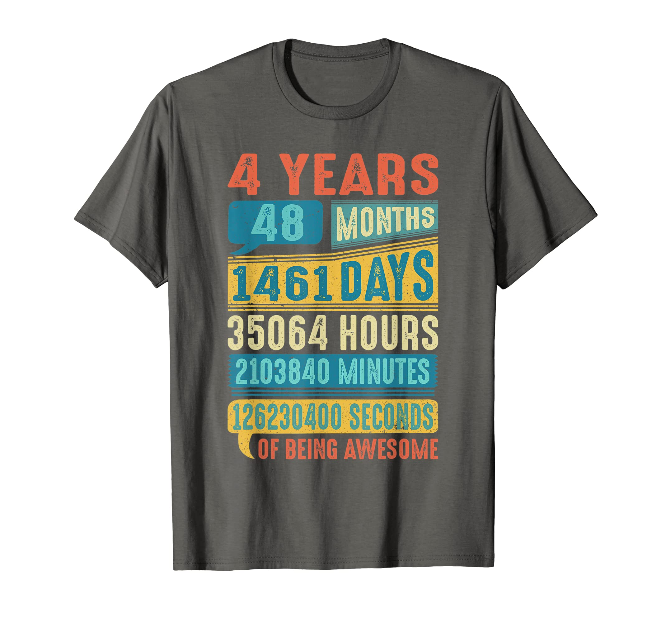 Amazon 4 Years Old 4th Birthday Gifts Vintage T Shirt 48 Months Clothing