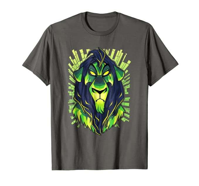 cc765a23eaf5 Amazon.com: Disney Lion King Evil Scar Graphic T-Shirt: Clothing