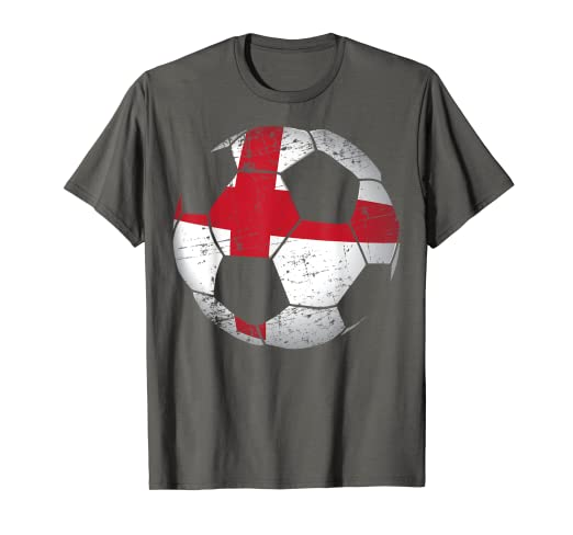 5bddefa9c Image Unavailable. Image not available for. Color: England Soccer Ball Flag  Jersey Shirt - English Football