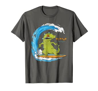 9fe25b30a Image Unavailable. Image not available for. Color: Nickelodeon Surfing Reptar  Graphic T-Shirt