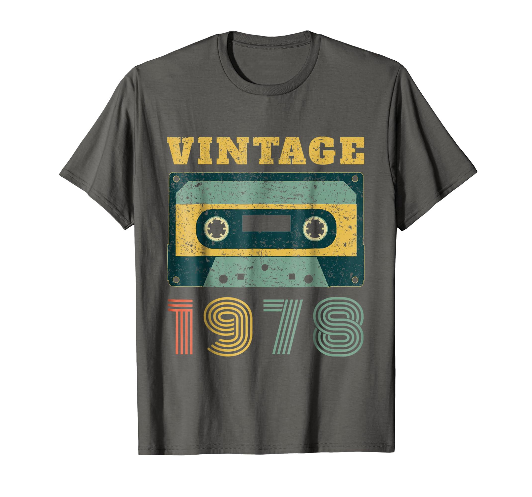 cbff25d29ed872 40th Birthday Gift Vintage 1978 Year Old Mixtape T-Shirt-Rose ...