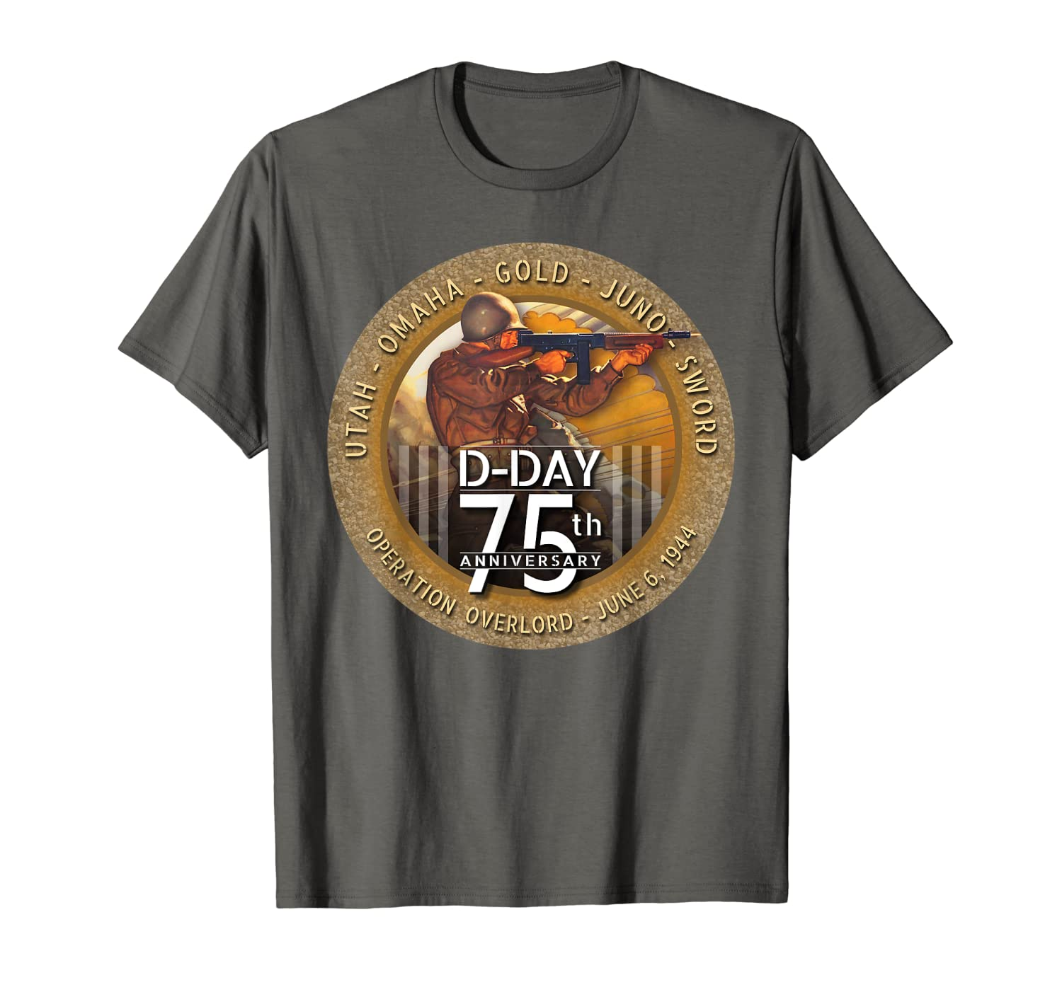 WWII D-Day 75th Anniversary T Shirt Paratrooper Soldier Tee-Loveshirt