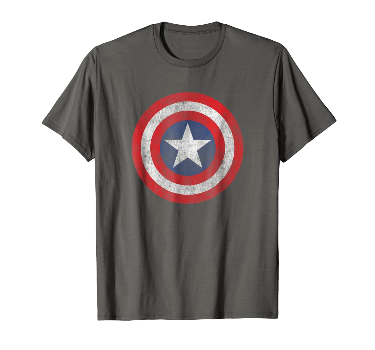 Marvel Captain America Classic Shield Graphic T-Shirt-Men's T-Shirt-Dark Heather
