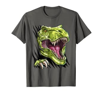 8ca08de31 Image Unavailable. Image not available for. Color: Ripped Halloween T Rex  Dinosaur Shirt ...