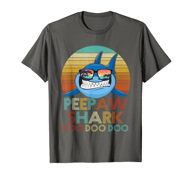 Peepaw Shark Shirt Fathers Day Gift Idea For Dad T Shirt-Yolotee