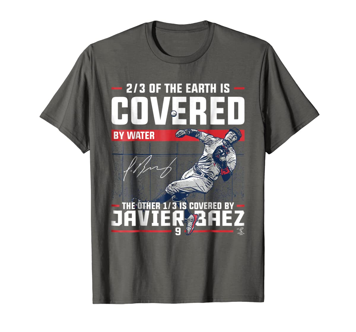 Javier Baez Covered By T-Shirt - Apparel-Men's T-Shirt-Dark Heather