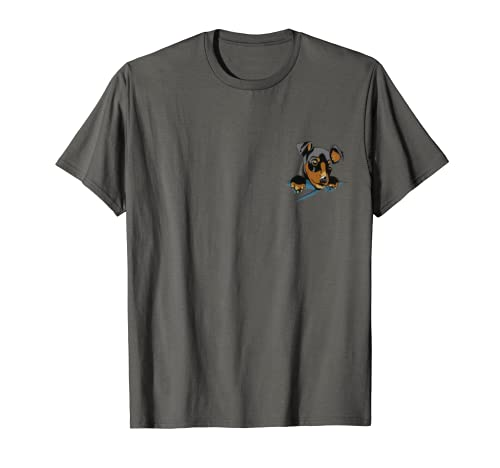 Doberman Pinscher In Pocket Doberman Lover Owner Dobie T-Shirt