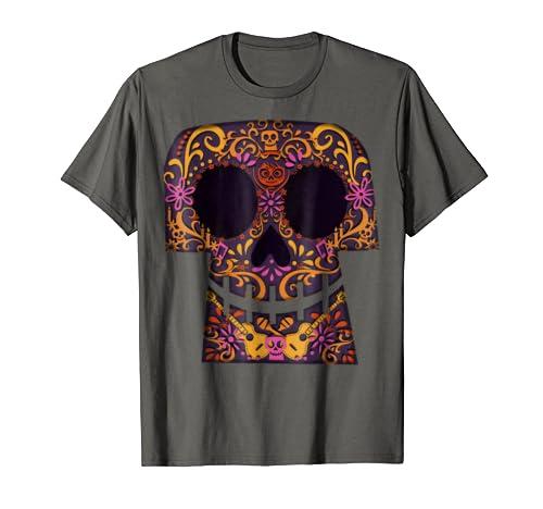 Disney Pixar Coco Collage Skull Halloween Graphic T-Shirt