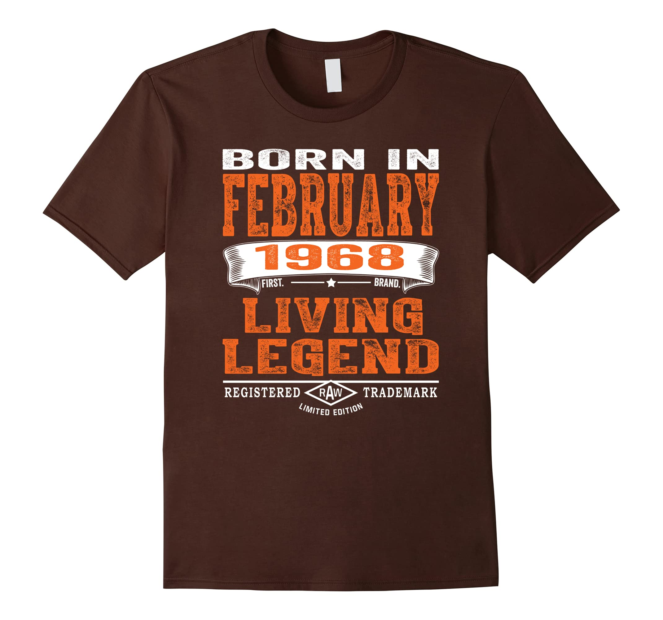 Mens 50th Birthday Gifts Men February 1968 Living Legend T Shirt Ah My One