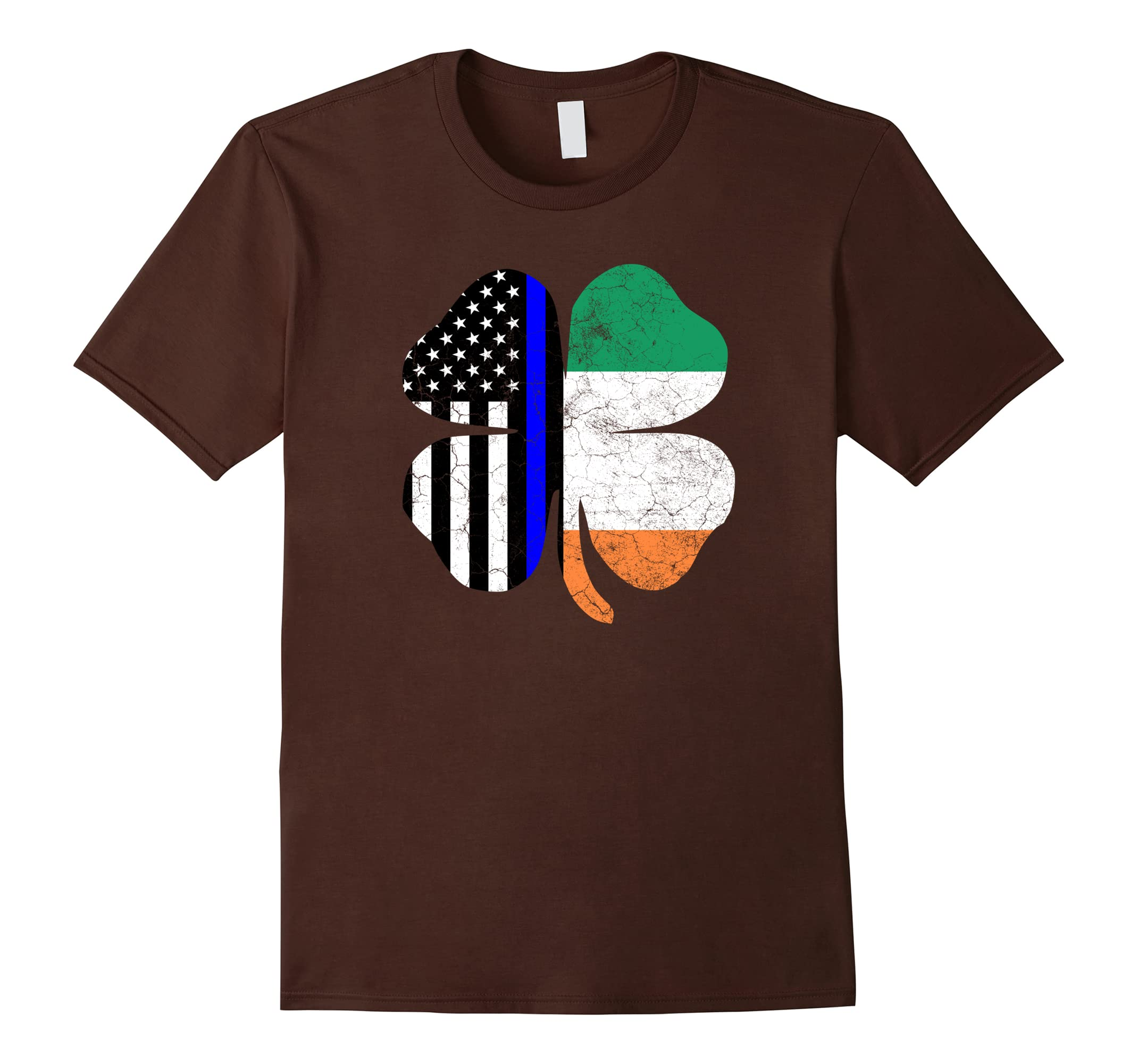 Irish American Flag Police Officer St. Patrick's Day T Shirt-ah my shirt one gift