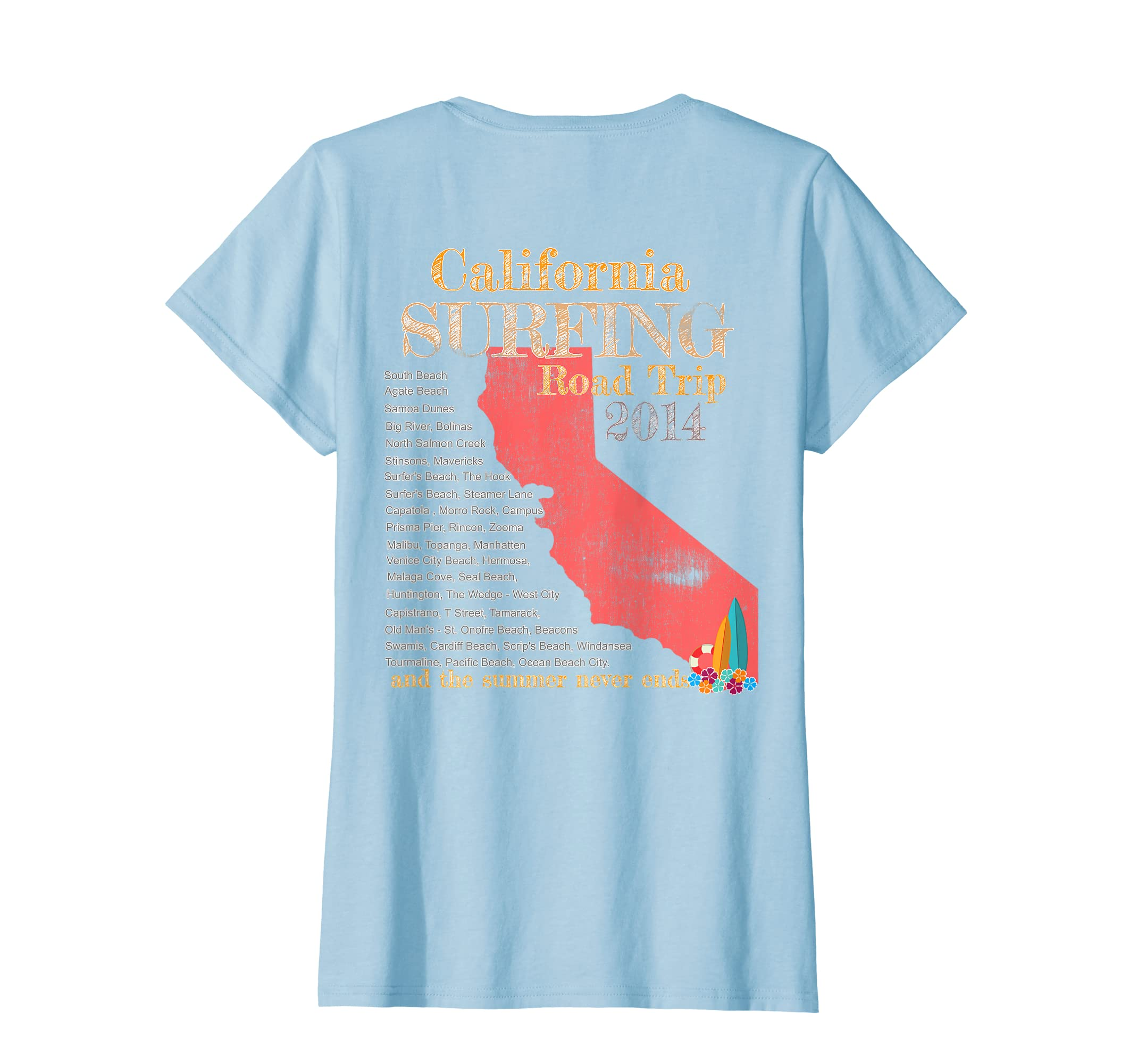 420a01b343d Amazon.com  Retro and Vintage Surf California Road Trip T Shirt  Clothing