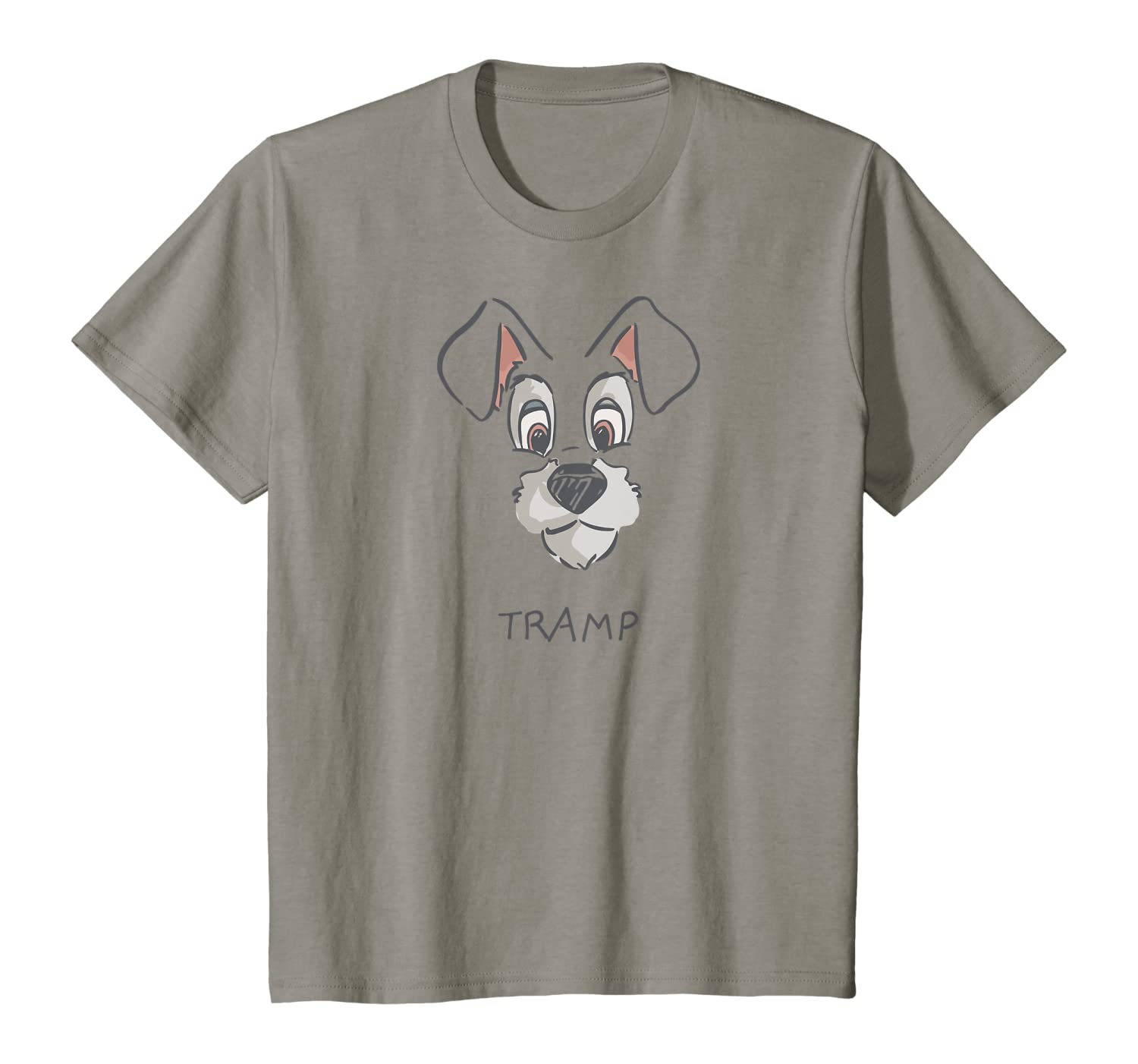 Amazon Com Disney Tramp Drawing Lady And The Tramp Costume T Shirt Clothing