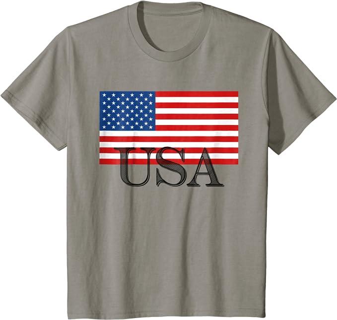 LIFE IS GOOD NWT USA Flag Patriotic American Blue SS TShirt Boys Size XL 12 14