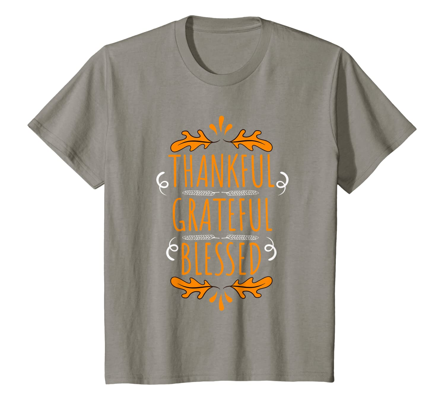 Thanksgiving – Thankful Grateful Blessed T-Shirt-Cotoa