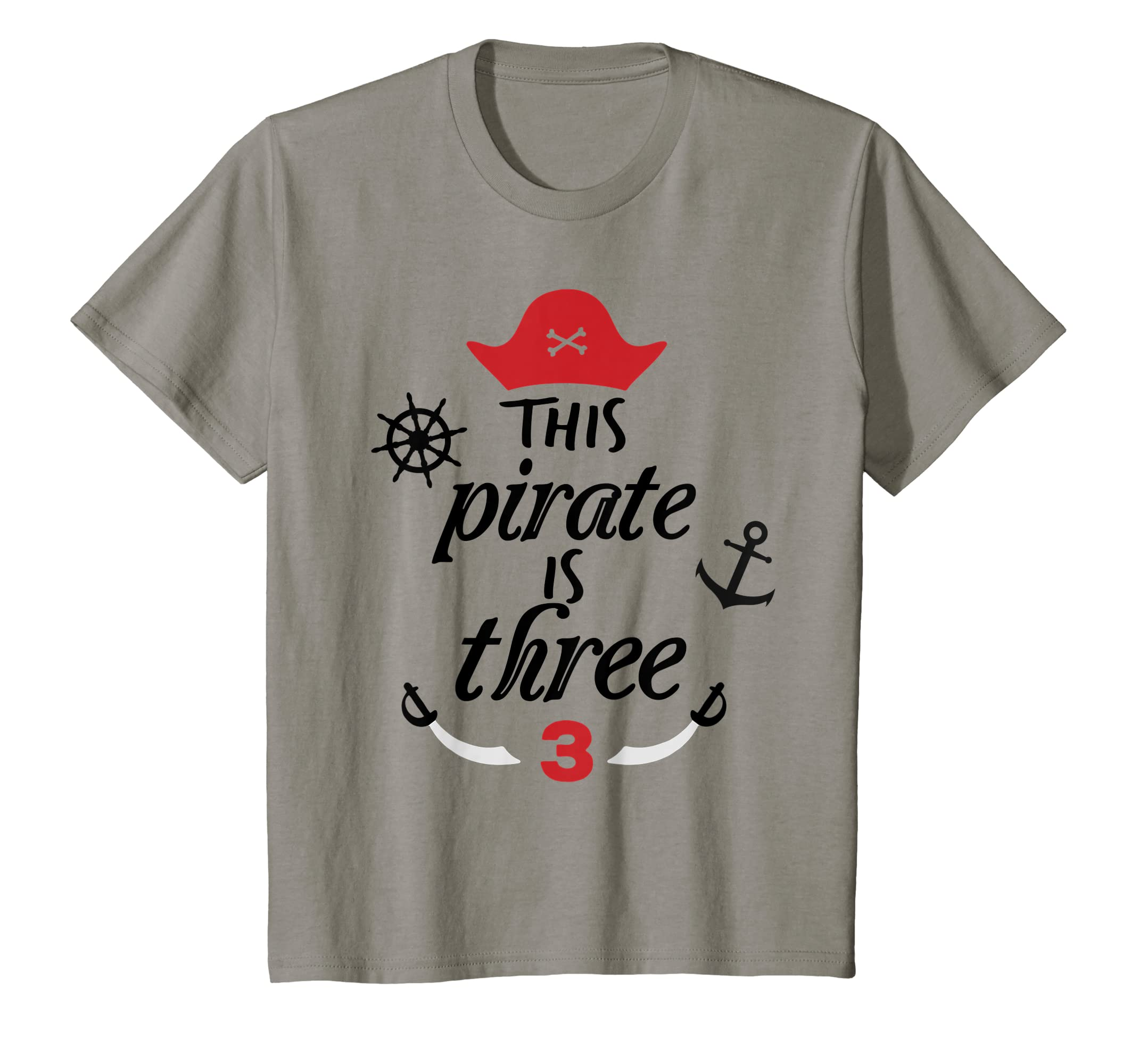 Amazon This Pirate Is Three Birthday T Shirt 3 Year Old Boy Party Clothing