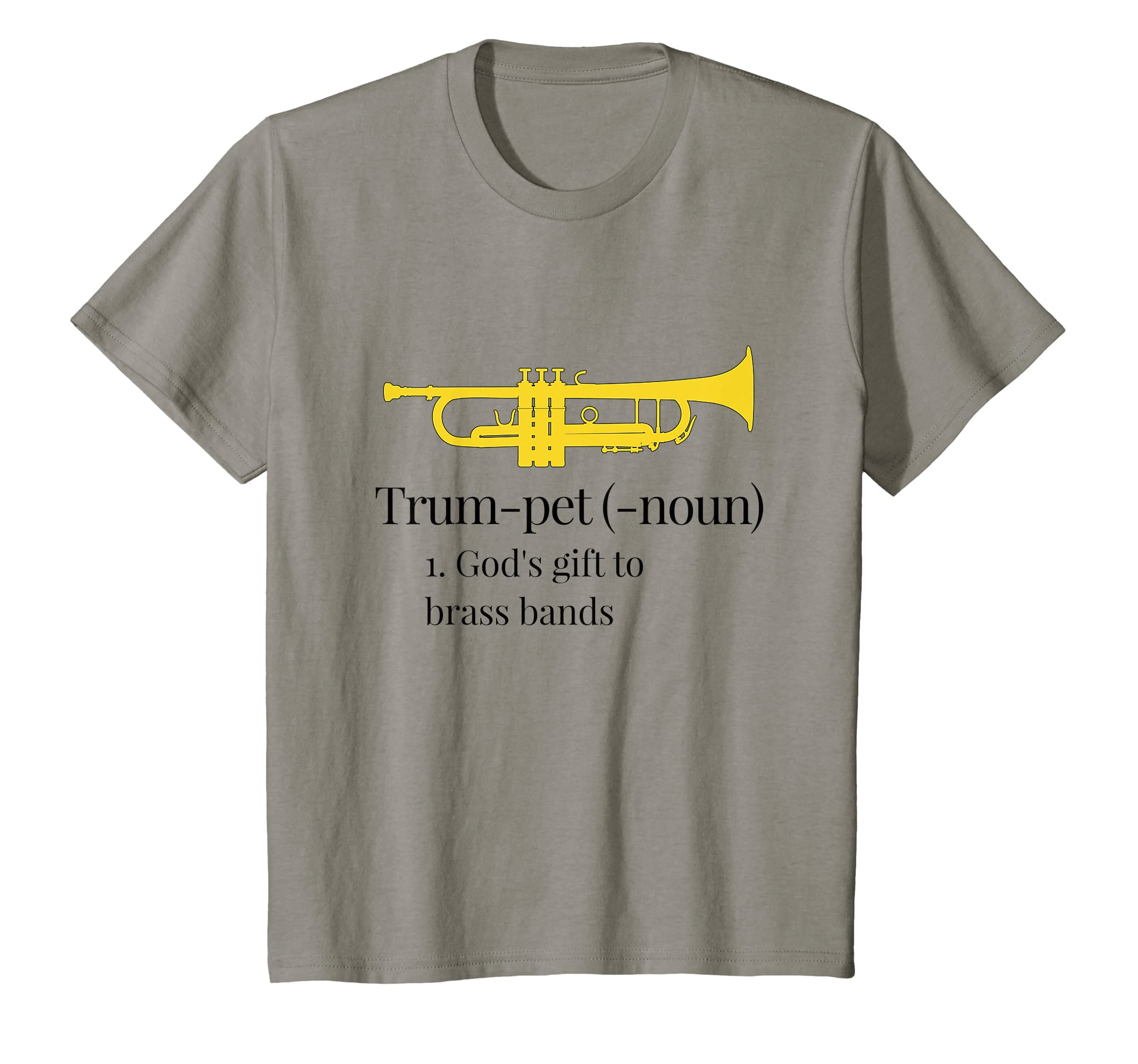 8a4854a2 Amazon.com: Funny Trumpet T-Shirt God's gift to brass bands: Clothing