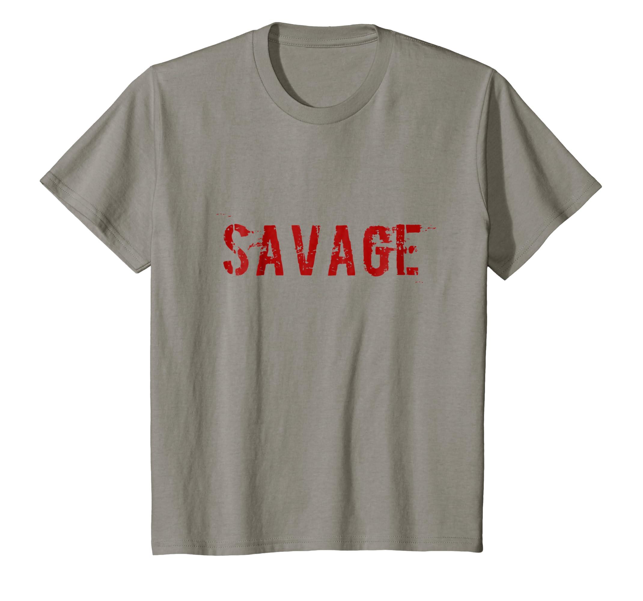 c0d972ca8 Amazon.com: Savage T-Shirt: Clothing