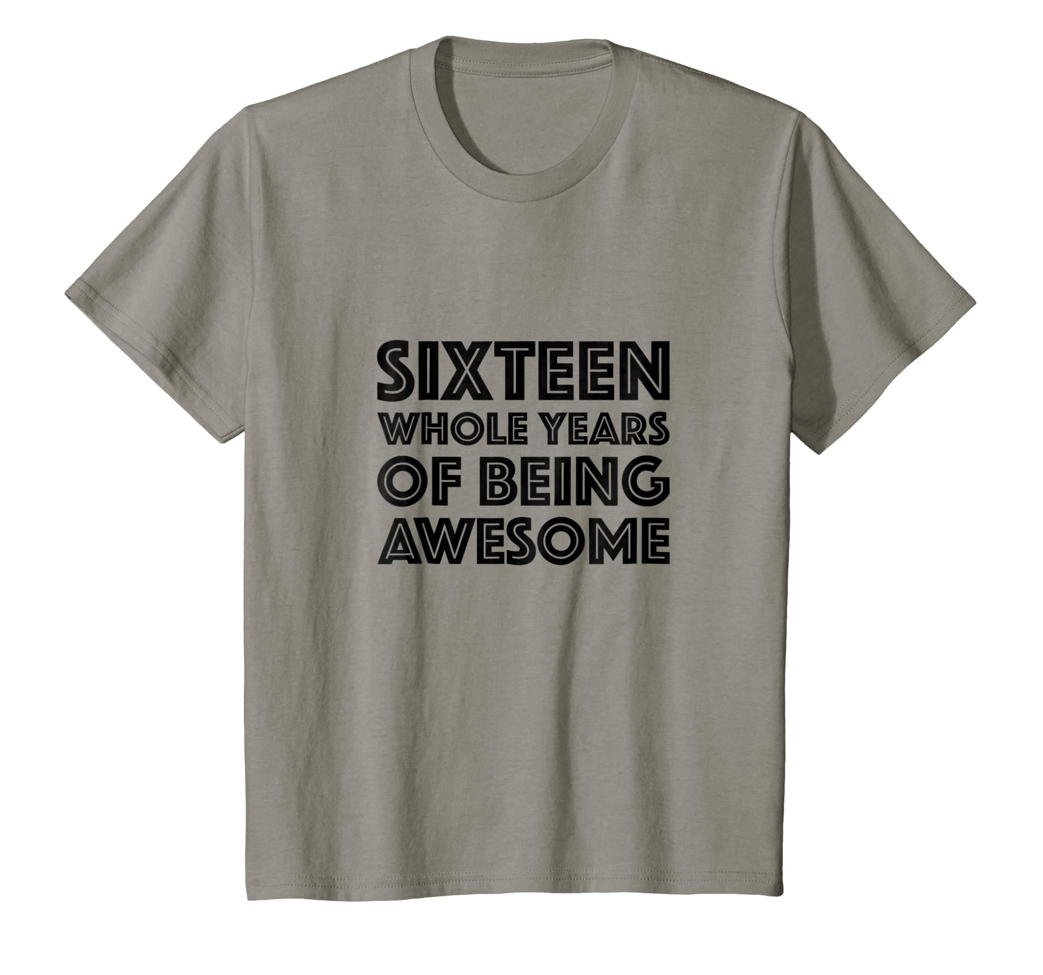 Amazon 16th Birthday Shirt Gift Age 16 Sixteen Year Old Boy Girl Clothing