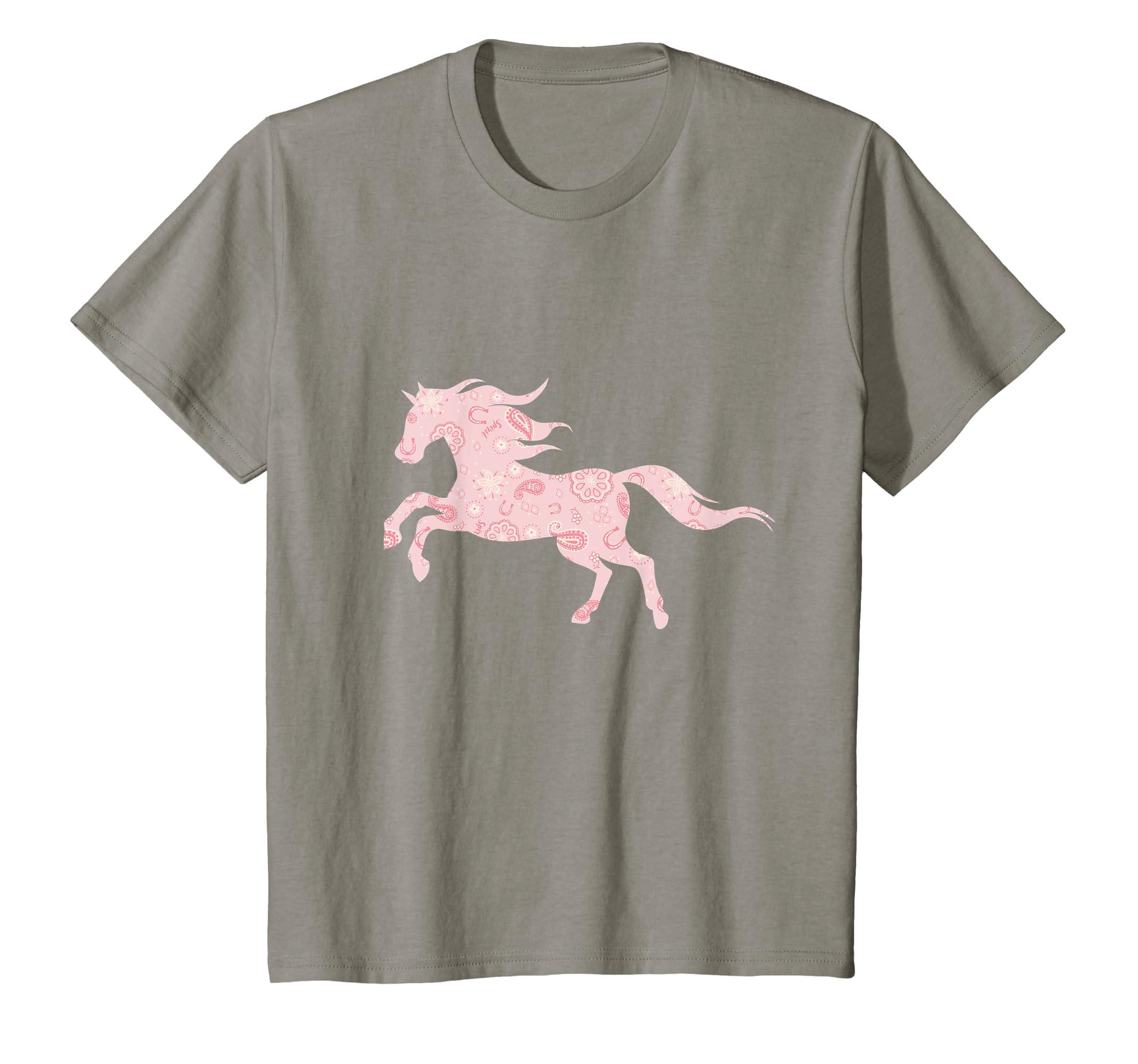 da65ea9fd Amazon.com: Kids DreamWorks Spirit Riding Free - Pink Horse T-Shirt:  Clothing