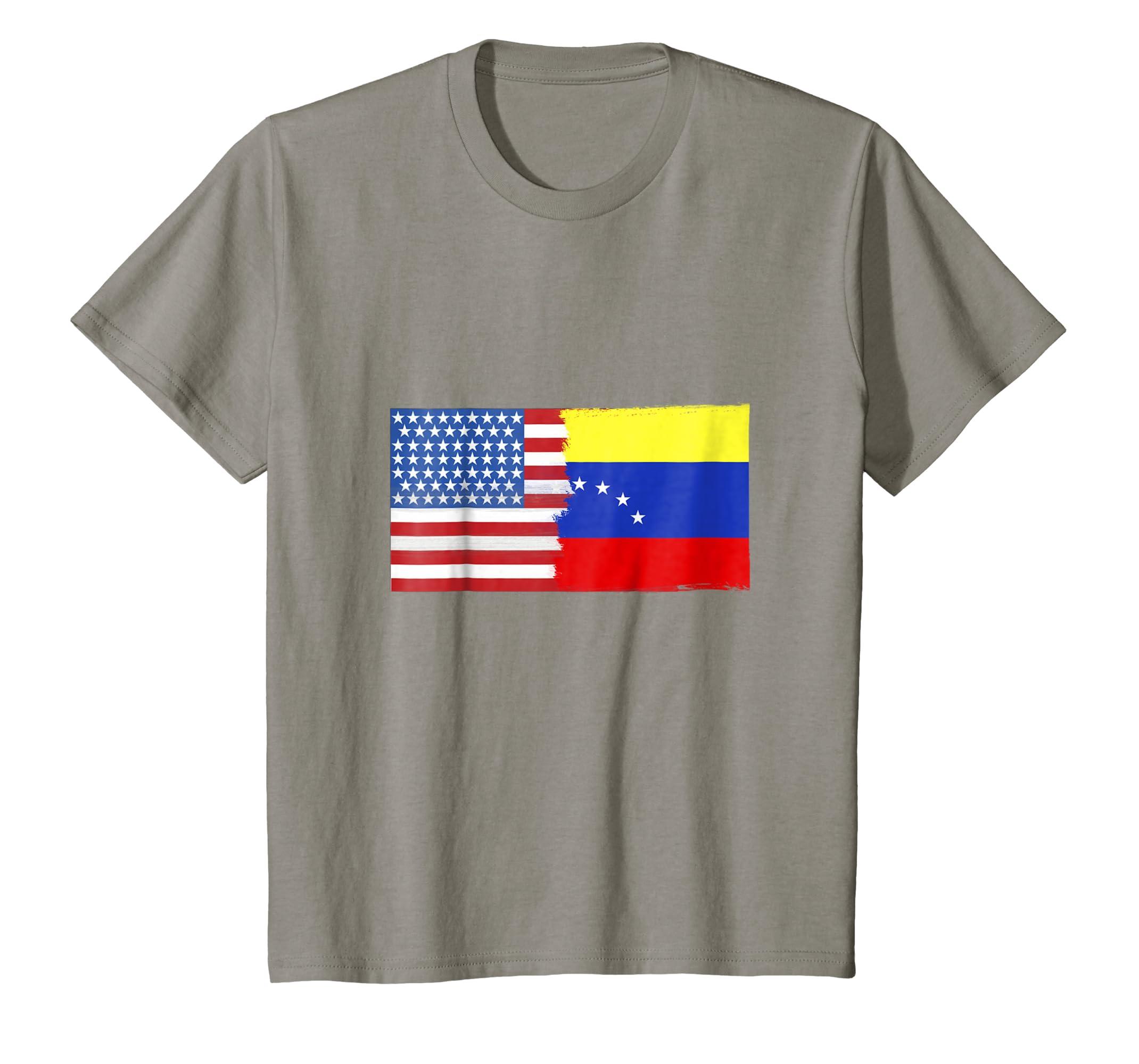 Amazon.com: Venezuelan American Half Venezuela Half America Flag Shirt: Clothing