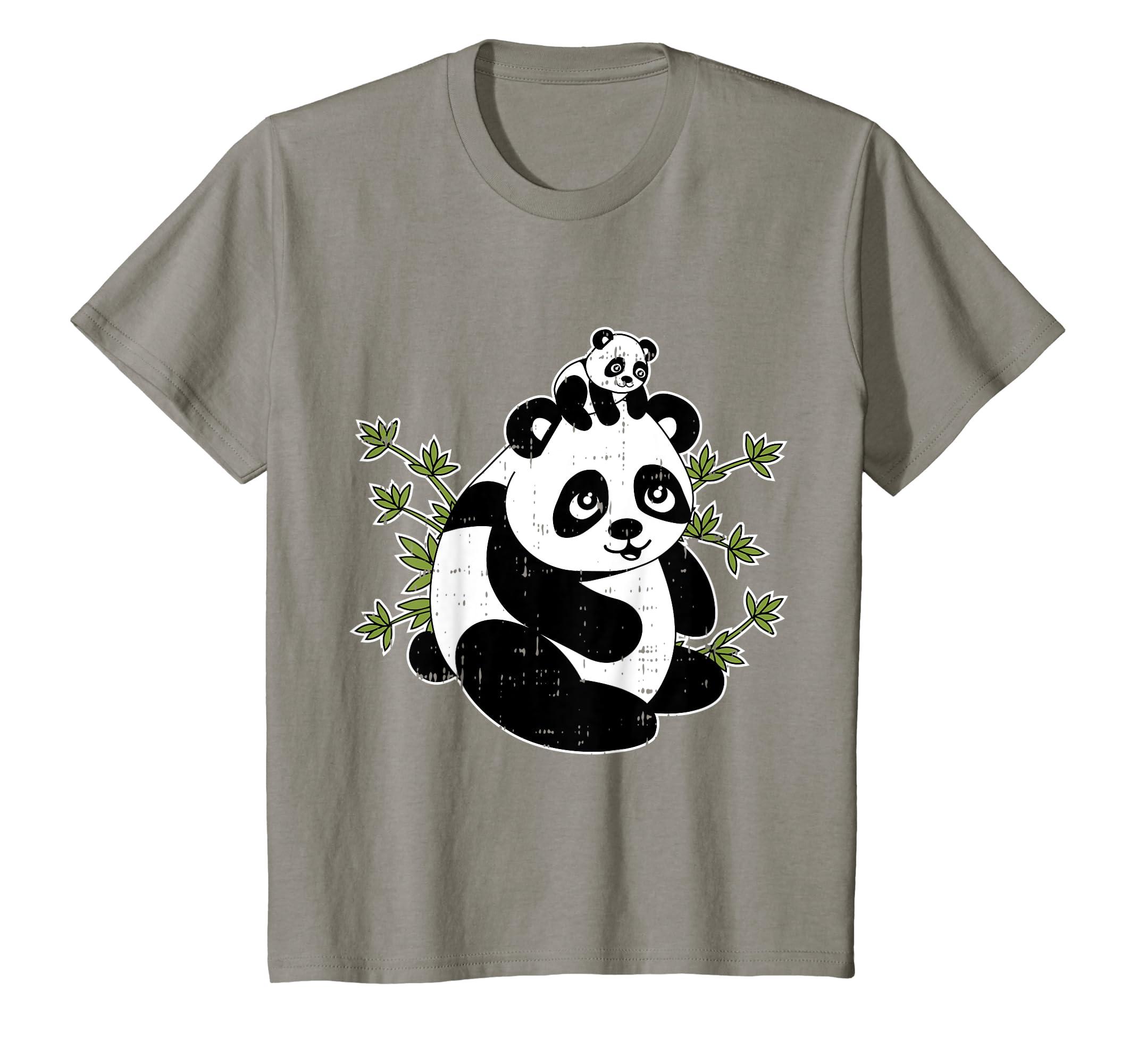 46a91f980575 Amazon.com: Papa Bear Panda Dad Baby Daddy Tee Cute Fathers Day Gift T-Shirt:  Clothing