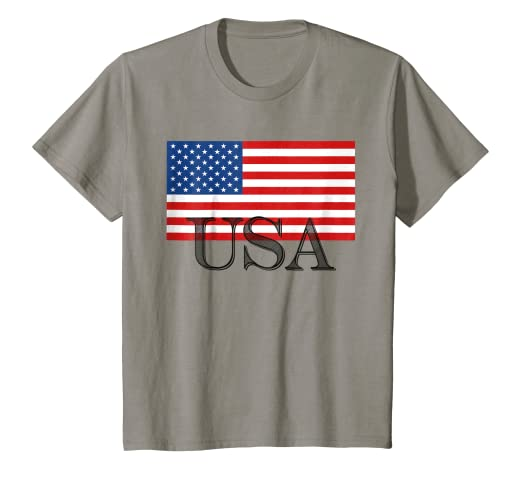 131cca48 Amazon.com: Kids USA America American Flag T-shirt Boys Girls Youth ...