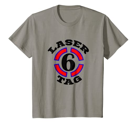 Kids 6 Year Old Laser Tag Birthday Party 6th Shirt